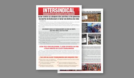 Veja o novo jornal da INTERSINDICAL com a campanha Fora Bolsonaro