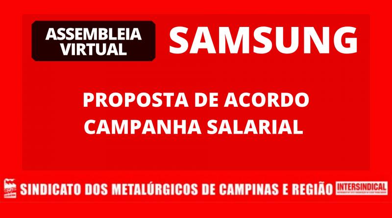 Resultado da Votação na Samsung – Proposta de Acordo da Campanha Salarial