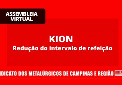 RESULTADO  Kion: Redução do intervalo de refeição – Votação dia 11/02 das 9h às 18h
