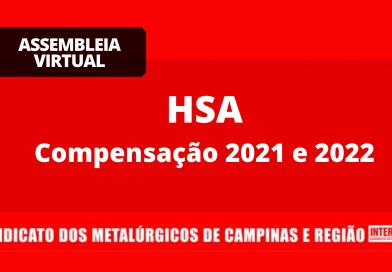 RESULTADO HSA: Compensação 2021 e 2022