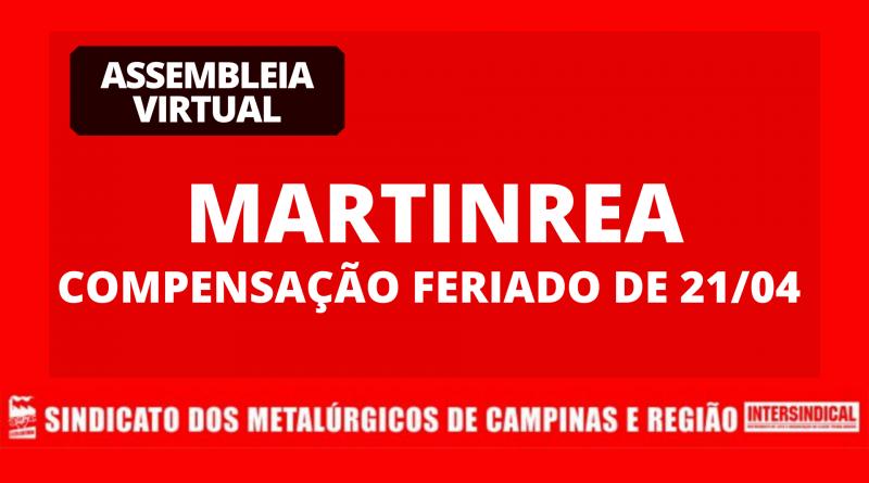 Assembleia Virtual Martinrea – Troca feriado dia 21