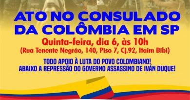 MOÇÃO DE APOIO À LUTA DOS TRABALHADORES DA COLÔMBIA
