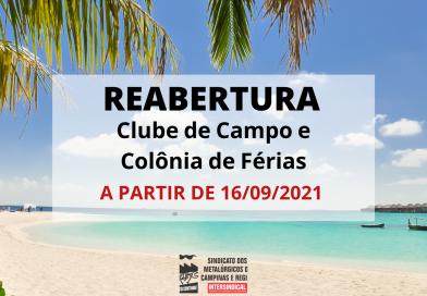 Clube de Campo e Colônia de Férias: confira as novas regras!